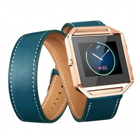 OTB - Infinity Leather Bracelet for Fitbit Blaze without Housing - Bracelets - AL152-BU www.NedRo.us
