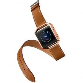 NedRo - Infinity Leer Armband voor Fitbit Blaze zonder behuizing - Armbanden - AL152-BR www.NedRo.nl