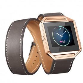 NedRo - Infinity Leer Armband voor Fitbit Blaze zonder behuizing - Armbanden - AL152-GY www.NedRo.nl