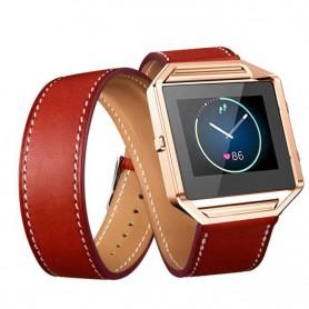 NedRo - Infinity Leer Armband voor Fitbit Blaze zonder behuizing - Armbanden - AL152-RE www.NedRo.nl