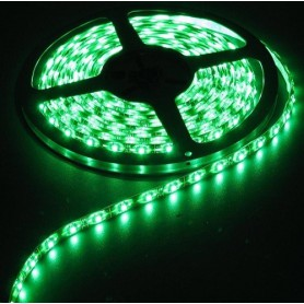 NedRo - Groen IP65 12V Led Strip SMD3528 60LED per meter - LED Strips - AL040-CB www.NedRo.nl