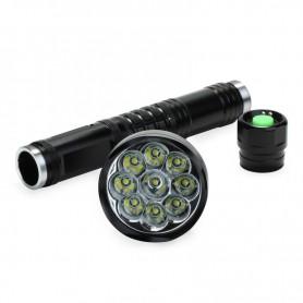NedRo - 9x CREE XM-L T6 LED-zaklamp LED-zaklamp 11000LM Waterdichte 5-standen - Zaklampen - LFT62 www.NedRo.nl