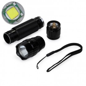 NedRo, WF-501B 18650 CR123A Lanternă LED UV Rezistent la apă Violet Purpuriu, Lanterne, LFT73, EtronixCenter.com
