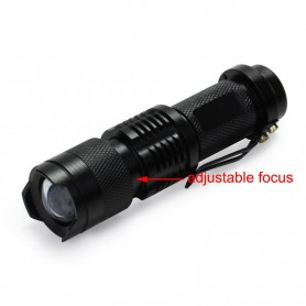 NedRo - Mini UV Flashlight AA 14500 Waterproof Violet Purple LED Light - Flashlights - LFT72-C www.NedRo.us