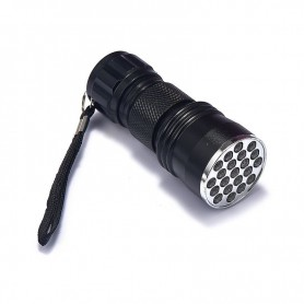 NedRo, Mini 21 LED UV Flashlight Violet Purple AAA LED Light, Flashlights, LFT82-CB, EtronixCenter.com