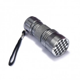 NedRo - Mini 21 LED lanterna UV violet violet AAA lumina LED - Lanterne - LFT82-C-CB www.NedRo.ro