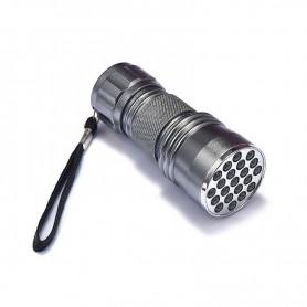 NedRo - Mini 21 LED UV Flashlight Violet Purple AAA LED Light - Flashlights - LFT82-CB www.NedRo.us