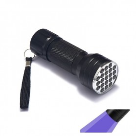 NedRo, Mini UV LED zaklamp 21LED Violet Paars Licht AAA, Zaklampen, LFT68, EtronixCenter.com