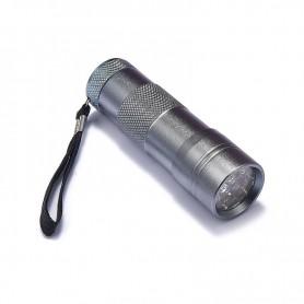NedRo - Mini 12 LED Aluminium UV Ultra Violet Flashlight purple light - Flashlights - LFT86-C www.NedRo.us