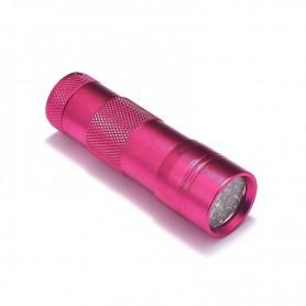 NedRo - Mini zaklamp 12 LED Aluminium UV Ultra Violet paars licht - Zaklampen - LFT29-CB www.NedRo.nl
