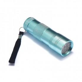 NedRo - Mini zaklamp 12 LED Aluminium UV Ultra Violet paars licht - Zaklampen - LFT29-C-CB www.NedRo.nl