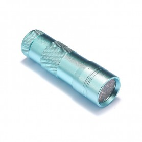 NedRo, Mini zaklamp 12 LED Aluminium UV Ultra Violet paars licht, Zaklampen, LFT29-CB, EtronixCenter.com