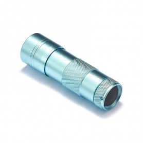 NedRo, Mini 12 LED Aluminium UV Ultra Violet Flashlight purple light, Flashlights, LFT29-CB, EtronixCenter.com
