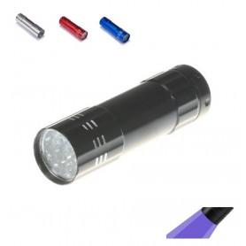 Mini 9 LED Aluminium UV Ultra Violet Flashlight purple light
