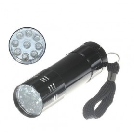 NedRo, Lanternă 9 LED UV ultra violet purpuriu aluminiu, Lanterne, LFT70-CB, EtronixCenter.com