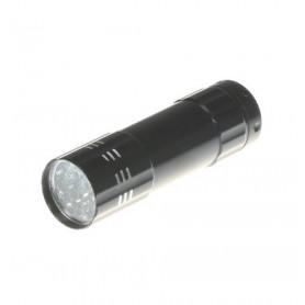 NedRo - Mini zaklamp 9 LED Aluminium UV Ultra Violet paars licht - Zaklampen - LFT70 www.NedRo.nl