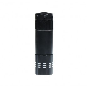 NedRo - Mini zaklamp 9 LED Aluminium UV Ultra Violet paars licht - Zaklampen - LFT70-C www.NedRo.nl
