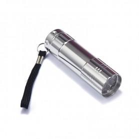 Oem - Mini 9 LED Aluminium UV Ultra Violet Flashlight purple light - Flashlights - LFT70-CB