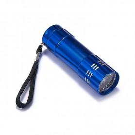 NedRo, Mini 9 LED Aluminium UV Ultra Violet Flashlight purple light, Flashlights, LFT70-CB, EtronixCenter.com