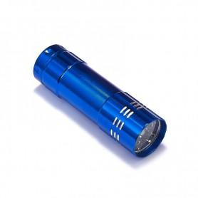 NedRo - Mini zaklamp 9 LED Aluminium UV Ultra Violet paars licht - Zaklampen - LFT70-C-CB www.NedRo.nl