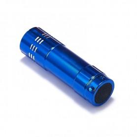 NedRo - Mini zaklamp 9 LED Aluminium UV Ultra Violet paars licht - Zaklampen - LFT70-CB www.NedRo.nl