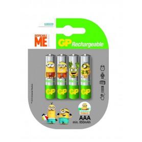 GP - Minion in blister GP ReCyko+ AAA 800mAh Rechargeable Battery - Size AAA - NK351-1x www.NedRo.us