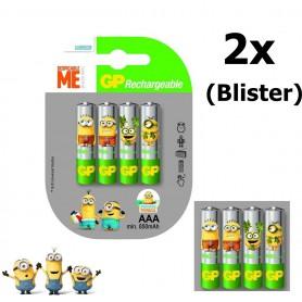 GP - Minion in Blister GP ReCyko+ AAA 800mAh Oplaadbare Batterij - AAA formaat - NK351-2x www.NedRo.nl