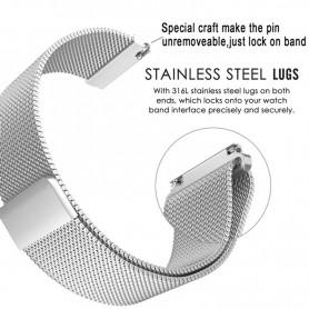 NedRo - Metalen armband voor Fitbit Blaze frame magneet slot - Armbanden - AL484-SI-L www.NedRo.nl