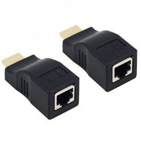NedRo, 1 Set 30m HDMI / RJ45 extender repeater booster TX/RX 3D Full HD1080P, HDMI adapters, AL163, EtronixCenter.com
