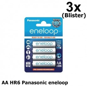 Eneloop - AA HR6 Panasonic eneloop Oplaadbare Batterij - AA formaat - ON1312-3x www.NedRo.nl