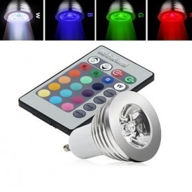 NedRo, GU10 4W 16 Color Dimmable LED Bulb with Remote Control, GU10 LED, AL164, EtronixCenter.com