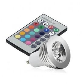 NedRo, Spot LED GU10 4W 16 culori cu reglare si telecomanda, GU10 LED, AL164, EtronixCenter.com