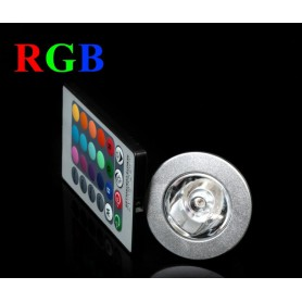 NedRo - Spot LED GU10 4W 16 culori cu reglare si telecomanda - GU10 LED - AL164-C www.NedRo.ro