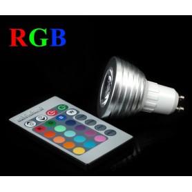 NedRo - GU10 4W 16 klueren RGB LED lamp met afstandsbediening - GU10 LED - AL164 www.NedRo.nl