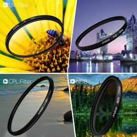NedRo, Kit de filtrare a fotografiilor Andoer 62mm UV+CPL+FLD+ND(ND2 ND4 ND8), Accesorii foto-video, AL165, EtronixCenter.com