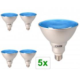 Calex, Blauw E27 20W 240V AC Calex Sealed Beam E-spaarlamp PAR38, Spaarlampen, CA0317-CB, EtronixCenter.com