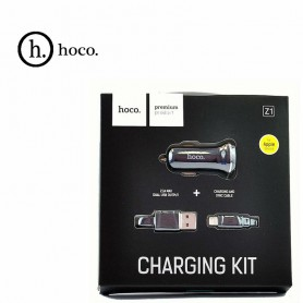 HOCO - Duo 2.1A USB autolader met Micro USB kabel - Aanstekerplugs - H60423-CB www.NedRo.nl