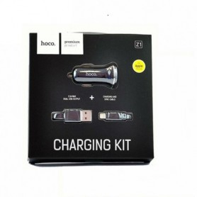 HOCO - Duo 2.1A USB car charger with iPhone Lightning cable - Auto charger - H60420 www.NedRo.us