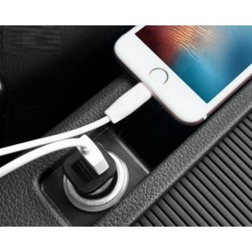 HOCO - HOCO Duo 2.4A USB car charger Premium Z12 Black - Auto charger - H60419 www.NedRo.us