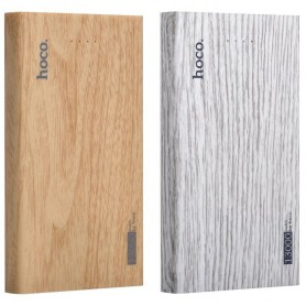 HOCO - HOCO Wood Grain 13000mAh Power Bank 2x 2.1A - Powerbanks - H60374 www.NedRo.nl