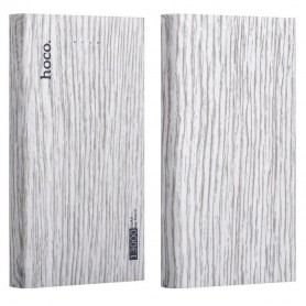 HOCO - HOCO Wood Grain 13000mAh Power Bank 2x 2.1A - Powerbanks - H60374-CB www.NedRo.nl