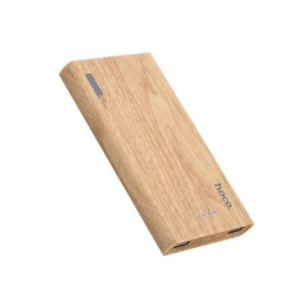 HOCO - HOCO Wood Grain 13000mAh Power Bank 2x 2.1A - Powerbanks - H60373 www.NedRo.nl