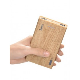 HOCO - HOCO Wood Grain 13000mAh Power Bank 2x 2.1A - Powerbanks - H60373 www.NedRo.us