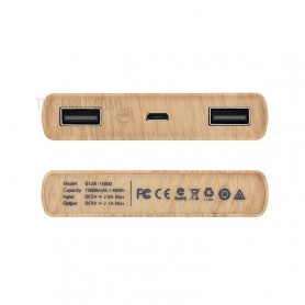 HOCO, HOCO Wood Grain 13000mAh Power Bank 2x 2.1A, Powerbanks, H60374-CB, EtronixCenter.com