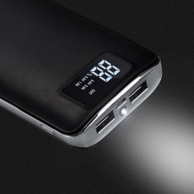 HOCO - HOCO Flowed 15000mAh Power Bank 1A/2.1A met zaklamp - Powerbanks - H60369-CB www.NedRo.nl