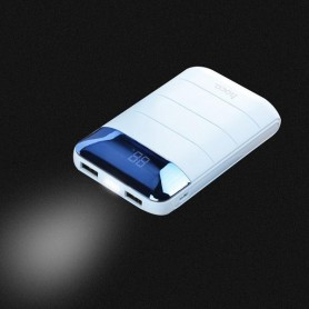 HOCO - HOCO Domon 10000mAh Power Bank 1A/2A met zaklamp - Powerbanks - H60366 www.NedRo.nl