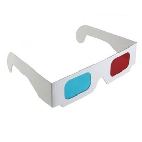 NedRo, 3D Red-Cyan Cardboard Paper Glasses, TV accessories, AL077-CB