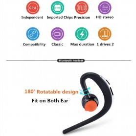 HD Voice - Handsfree Bluetooth v3 headsets with mic voice control - Headsets and accessories - AL169-C www.NedRo.us
