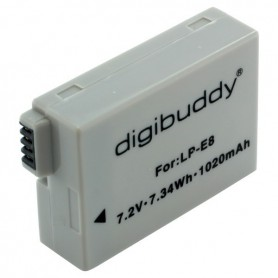 digibuddy - Battery for Canon LP-E8 1020mAh - Canon photo-video batteries - ON2665 www.NedRo.us