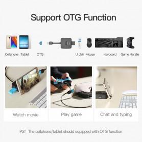 Vention, USB 2.0 Hub 4 poorten Telefoonhouder USB Splitter Adapter, Ports en Hubs, V001-CB, EtronixCenter.com